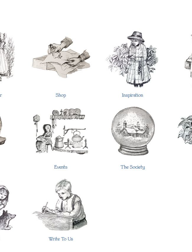 Suite of Illustrations used to delineate navigation